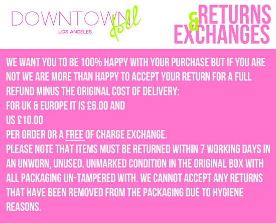 Downtowndoll Returns and Exchanges